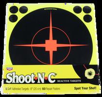 """Birchwood Casey Shoot-N-C Paper 8"""" Bullseye Black, 5 Pack"""