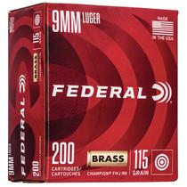 Federal Champion Training 9mm 115gr, FMJ, 100rd Box