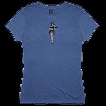Magpul Tri-Blend Hula Girl Lady Shirt XXL Royal Heather