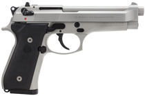 Beretta 92FS 9mm, Inox Finish, 3-Dot Sights, 15rd Mags