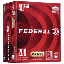 Federal Champion Training 40 S&W 180gr, FMJ, 200rd Box