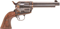 "Standard Mfg Single Action Revolver 45 Colt 5.5"" Barrel, Blue/Case Hardened, Walnut 2 Pc Grip"