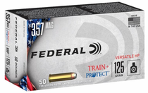 Federal Train + Protect 357 Mag 125gr, Jacketed Hollow Point, 50rd Box