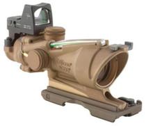 Trijicon ACOG 4x32 Dark Earth Green Crosshair Reticle, 4 MOA RMR Sight (Combo)