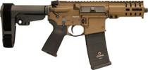 "CMMG Banshee 300 MK4 9mm, 5"" Barrel, Midnight Bronze, Black Magpul Grip, RipBrace, 33rd"