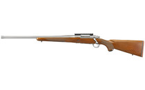 """Ruger Hawkeye Hunter 6.5 Creedmoor, 22"""" Free Floated Cold Hammer Forged Barrel, 5/8X24 Threads, Satin Stainless Finish, Walnut Stock, Left Hand, LC6 Trigger, 4rd"""