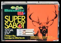 "Brenneke Super Sabot 12 Ga, 3"", 1 1/8oz, Sabot Slug, 5rd Box"