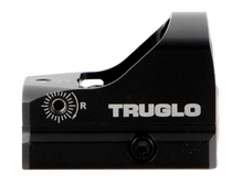Truglo TRU-TEC Micro Red Dot, 1X23, 3MOA, 23mm X 17mm Multi-Coated Objective Lens, Matte Black, Hardshell Cover and Picatinny Mount, CR2032 Battery Included