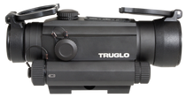 Truglo Tru-Tec with Red Laser 1x 30mm Obj 2 MOA Red Dot Black CR123A Lithium