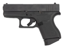 "Glock 43 USA Used 9mm, 3.39"" Barrel, Contrst Sights, Black, 6rd"
