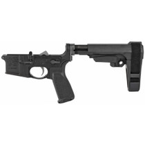 Bravo Company, BCM, Pistol Lower Group with SBA3 Pistol Brace, Multi Cal, Aluminum Frame, 556NATO, Black Finish, GUNFIGHTER Pistol Grip,