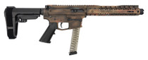 "Black Rain Fallout CQB Pistol 9mm, 8.25"" Barrel, SBA3, Battleworn Bronze, 30rd"