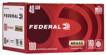 Federal Champion .40 S&W, 180gr, FMJ, Brass Case, 100rd