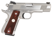 "Colt Mfg 1911 Combat Commander Elite 45 ACP 4.25"" Barrel Two-Tone Elite Black G10 Checkered Scallop Grip, 8rd Mag"