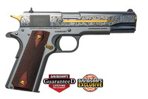Colt 1911 Heritage .38 Super 7 Round Stainless Steel, Engraved