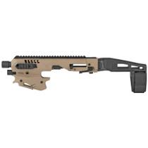 Command Arms Micro Handgun Conversion Kit Glock 17/19/19X/22/23/31/32/45, Tan Finish
