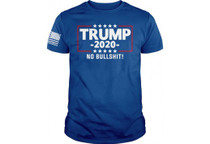 KICKS TRUMP 2020 NO BS MEN'S T-SHIRT ROYAL BLUE XL