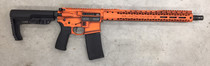 "Black Rain Outbreak AR-15 Billett Special Edition 5.56/223 16"" Barrel, Orange Battleworn Cerakote, 15"" Slim Rail 30rd Mag"
