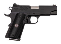 "Wilson Combat ACP Compact 1911 SAO Used Excellent 45 ACP, 4"" Barrel, Black Armor-Tuff Carbon Steel, Black G10 Eagle Claw Grip, 2x7rd Mags, Factory Soft Case, Papers"