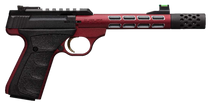 "Browning Buck Mark Plus Vision 22 LR 5.87"",  Red Frame, Red Slide And Red Vision Barrel, UFX Rubber Overmolded Grip,  10 rd"