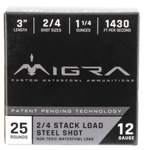"Migra Combinational Weekender 20 Ga, 3"", 1oz, 2-BB Shot, 25rd Box"