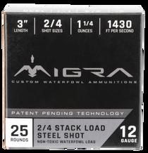 "Migra Combinational Weekender 12 Ga, 3"", 1 1/4oz, 2-BB Shot, 25rd Box"
