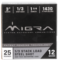 "Migra Combinational Weekender 12 Ga, 3"", 1 1/4oz, 1, 3 Shot, 25rd Box"