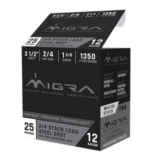 "Migra Combinational 12 Ga, 3.50"", 1 5/8oz, 2-4 Shot, 25rd Box"