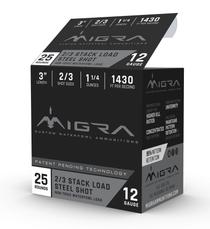 "Migra Combinational 12 Ga, 3"", 1 1/4oz, 2-3 Shot, 25rd Box"