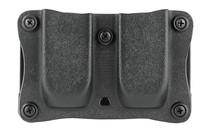 """Desantis Quantico Double Mag Pouch Outside Waistband 9mm, 40 S&W Sig 1911 Rail 5"""", 1.5"""" Belt, Black Kydex"""