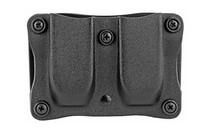 """Desantis Quantico Double Mag Pouch Outside Waistband 9mm, 40 S&W, 1.5"""", Belt Black Kydex"""