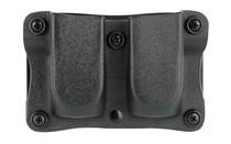 """Desantis Quantico Double Mag Pouch Outside Waistband 9mm, 40 S&W Glock 17,19,22,23,31-38, 1.5"""" Belt, Black Kydex"""