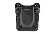 "Desantis Quantico Single Mag Pouch Outside Waistband 9mm, 40 S&W, Glock 17,19,22,23,31-38, 1.5"" Belt, Black Kydex"