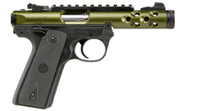 "Ruger MKIV 22/45 Lite .22 LR, 4.4"" Threaded Barrel, Green Anodized, 10rd"
