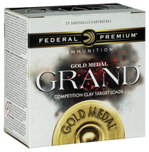 "Federal Premium Gold Medal Grand Paper 12 Ga, 2.75"", 1 1/8oz, 8 Shot, 25rd Box"