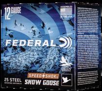 "Federal Speed-Shok Snow Goose 12 Ga, 3"", 1 1/4oz, 2 Shot, 25rd Box"