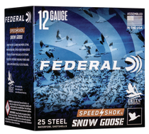 "Federal Speed-Shok Snow Goose 12 Ga, 3"", 1 1/4oz, BB Shot, 25rd Box"