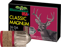"Brenneke Classic Magnum 16 Ga, 2.75"", 1oz Slug, 5rd Box"