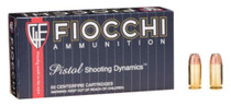 Fiocchi Shooting Dynamics .45 Auto 200 Grain Jacketed Hollow Point 50rd/Box
