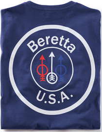 Beretta T-Shirt USA Logo, Small, Navy Blue
