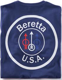 Beretta T-Shirt USA Logo 2X-Large, Navy Blue