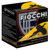 "Fiocchi Golden Pheasant Nickel Plated 28 Ga, 3"", 1 1/16oz, 7.5 Shot, 25rd Box"