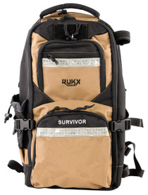 ATI RUKX Gear Survivor Backpack, Stores ATI Nomad In Rear Pocket, Tan