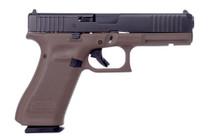 """Glock 17 Gen5 MOS 9mm, 4.49"""" Barrel, Flat Dark Earth, 3x 17rd"""