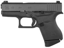 "Glock G43 Subcompact 9mm, 3.41"" Barrel, Glock Night Sights, Black, 6rd"