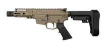"MCM DS9-S 9mm Pistol, Rear Charging, 5"" Barrel, MP5 Mag, FDE Cerakote"