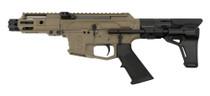 """MCM DS9-S Side Charging Pistol, 9mm, 4.5"""", 33rd Glock Mag, FDE Cerakote"""