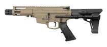 """MCM DS9-S 9mm, 5"""" Barrel, MP5 Mag, FDE Cerakote, Strike Ind. PDW Brace"""