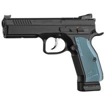 "CZ 75 Shadow 2 9mm, 5.4"", Optic Ready, Blue Grips, 19rd"