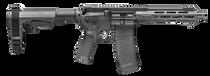 "SpringfieldSaint Victor Pistol 5.56mm 7.50"",  Black Hard Coat Anodized, Black Bravo Mod3 5 Position SBA3 Brace,  30 rd"
